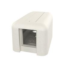 HDJ Plastic Surface Mount Box - Single Port - Fog White