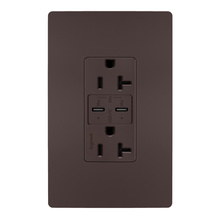 radiant 20A Tamper Resistant Ultra Fast PLUS Power Delivery USB Type CCOutlet, Dark Bronze