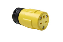 15A, 250V Rubber Dust-Tight Connector, Yellow