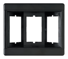 Three-Gang Recessed TV Box (Frame Only), Black