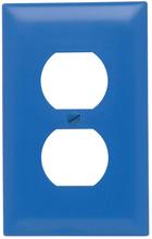 Duplex Receptacle Openings, One Gang, Blue
