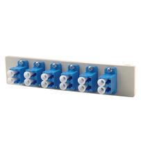 Fib-Cop II Bottom Adapter Plate, 6-LC Duplex (12 Fibers) Single Mode, Blue adapters