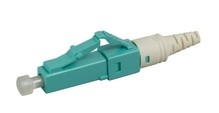 LC PC reusable connector, field-installable, 50/125 LOMF