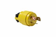 Non-NEMA 3 Wire Plug - Yellow, Grounding