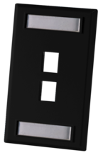 SINGLE GANG FACEPLATE, HOLDS TWO KEYSTONE JACKS OR MODULES