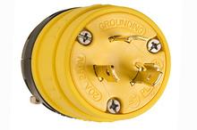 Rubber Dust-Tight Locking Plug, Yellow