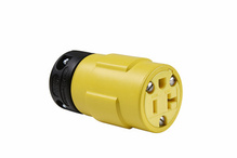 20A, 125V Rubber Dust-Tight Connector, Yellow