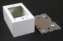 500/700 Single-Gang Shallow Switch and Receptacle Box Fitting