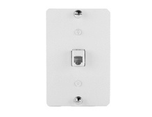 1-Gang 6P6C RJ25 Terminating Wall Phone Plate