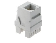 6P6C Keystone Connector, White