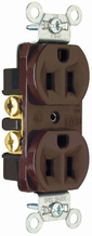 Construction Spec Grade Receptacles, Back & Side Wire, 15A, 125V, Red