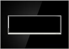 adorne® Mirror Black Three-Gang Screwless Wall Plate