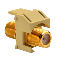 Recessed Gold F-Connector, Ivory