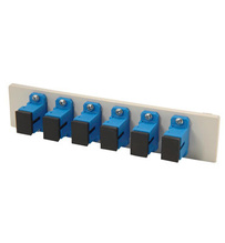 Fib-Cop II Bottom Adapter Plate, 6-SC Simplex (6 Fibers) Single Mode, Blue adapters