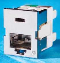 Clarity 5E Shielded TracJack, T568A/B, 180 degree