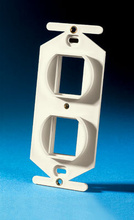 TracJack 106-Type Frame, Two-Port, Wiremold Ivory