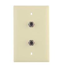3GHz Dual Coax Wallplate, Light Almond