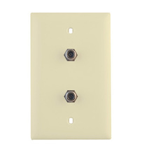 3GHz Dual Coax Wallplate, Light Almond