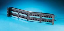 Clarity 5E angled 48-port panel - Cat 5e - six-port modules - 19 in x 3.5 in