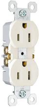 15A/125V TradeMaster® 4-Terminal Receptacle, White