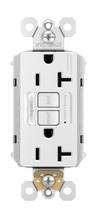 PlugTail® NAFTA-Compliant Spec-Grade Tamper-Resistant 20A Self-Test Night Light/GFCI, White