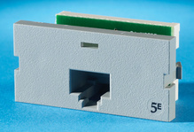 Series II, one-port Clarity 5E,T568A/B, 180 degree, Wiremold Gray