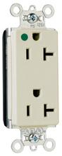PlugTail® Decorator Hospital Grade Receptacles, 20A, 125V, Gray