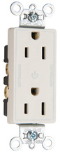 Heavy-Duty Decorator Spec Grade 15A Plug Load Controllable Receptacle, Brown