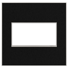 adorne® Black Stainless Two-Gang Screwless Wall Plate