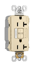 PlugTail® NAFTA-Compliant Spec-Grade Tamper-Resistant 20A Self-Test Night Light/GFCI, Ivory