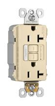 PlugTail® NAFTA-Compliant Spec-Grade Tamper-Resistant 20A Self-Test Night Light/GFCI, Ivory