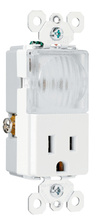 TradeMaster® Decorator Night Light w/ 15A Outlet, White