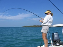 Woman fishing in Gulf of Mexico. Credit: Florida FWC.