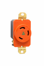 30 Amp NEMA L630 Single Receptacle, Orange, Isolated Ground