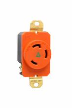 30 Amp NEMA L630 Single Receptacle, Orange, Isolated Ground