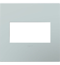 adorne® Pale Blue Two-Gang Screwless Wall Plate