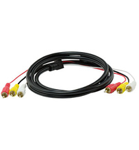 Composite Video L/R Audio Cable (6 ft)