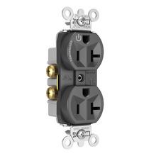 Hard-Use Spec Grade Plug Load Controllable Receptacle, 20A, 125V, Black