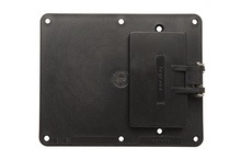 2-Gang 1-GFCI and 1-Blank Cover Plate, Black