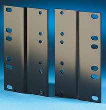 Rack Adapter Kit - 19 to 23 in - 5.25 in H - 3 rack units - - black