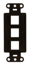 3-Port Decorator Outlet Strap, Brown