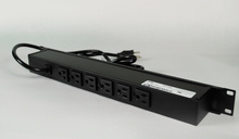 Rack Mount 120V/15A/6 rear O/L /lighted switch/6' cord