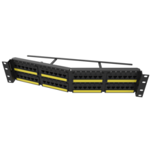 TECHCHOICE CAT6A PATCH PANEL, ANGLED 48 PORT