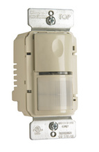 PlugTail® Commercial Passive Infrared (PIR) Wall Switch Sensor, Light Almond