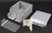 Wiremold 4000 Series Entrance End Fitting, Ivory