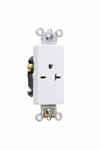 Heavy-Duty Decorator Spec Grade Single Receptacles, Back & Side Wire, 20A, 250V, Light Almond