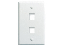 1-Gang, 2-Port Wall Plate, White