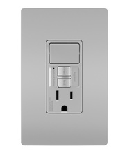 radiant® Single-Pole Switch with Tamper-Resistant Self-Test GFCI Outlet