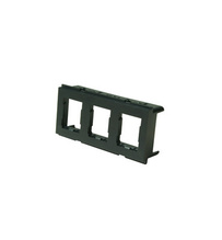 HDJ Furniture Adapter Plate, Holds 3 HDJ Modules, Black