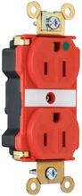 PlugTail® Extra Heavy-Duty Hospital Grade Receptacles, 15A, 125V, Red